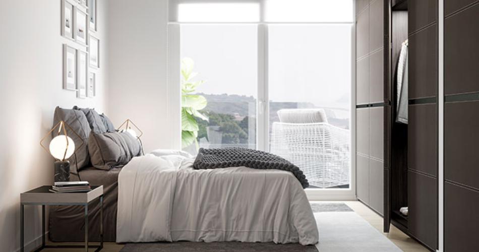 En el dormitorio, ¿estores o cortinas?